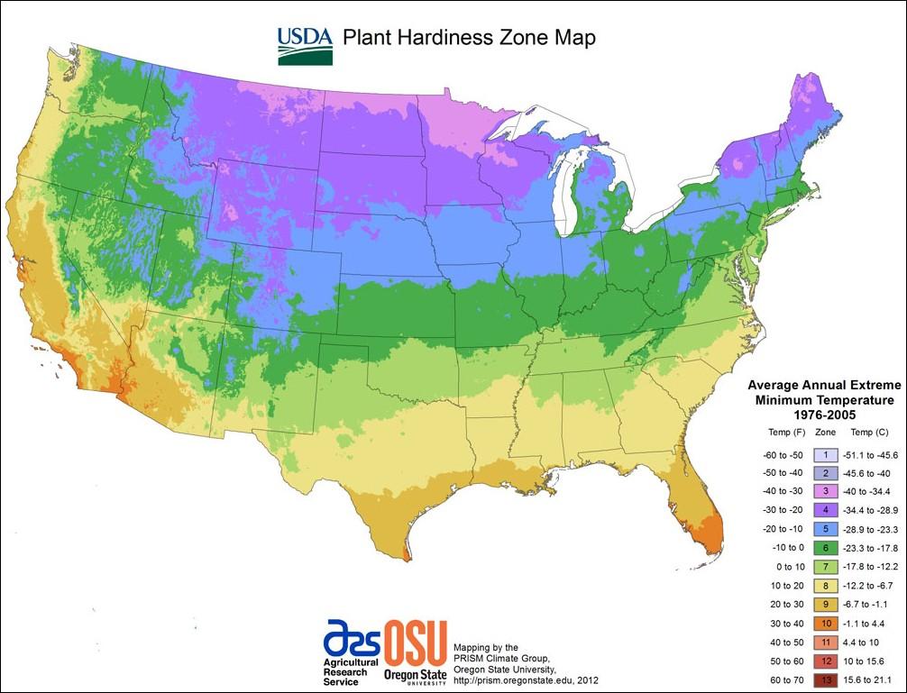 USDA Zone Map Zone Map Of Usa on